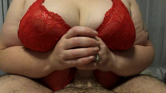 BBW in red gives me a long handjob 4k 13