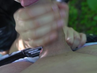 She non-stop swallows his huge cock   Very slobbery blowjob