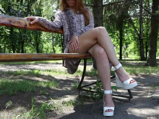 My slutty in public in the park of...