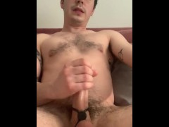 Tied Up My Cock and Balls Before Cumming On Myself