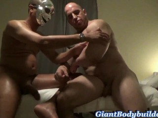 Happy ending the best gay massage made bodybuilder...