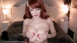 All natural mature milf Ruby J Fox plays with big oiled up titties