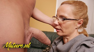 50 Year Old Virgin Sucking a Cock For The First Time In Her Life