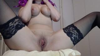 female pee hole close up, squirt close up, period masturbation, period tampon