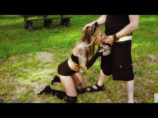 Submissive babe rory knox gets tied up for...