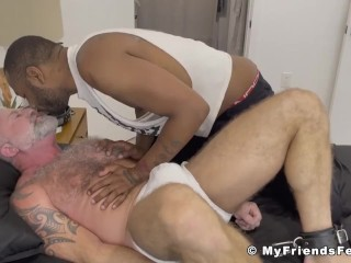 Silver daddy lance charger feet tormented by dom...