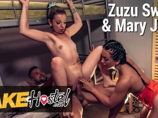 Fake hostel zuzu sweet jane sharing cock...
