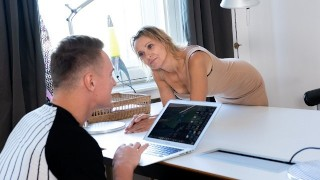 MATURE4K Blonde mature has pussy filled with mans cock instead of paying