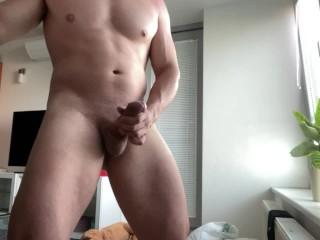 Huge Dick Can't Stop Cumming All Over Floor – Loud Orgasm And Moaning