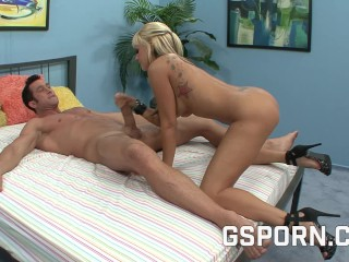 Busty blonde milf searching rough cock to fuck hard her wet pussy