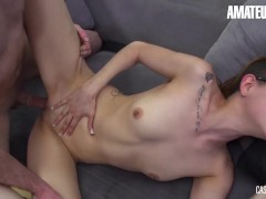 CASTINGFRANCAIS - LYDIA MOSER CANADIAN REDHEAD GETS REWARDED WITH TWO CUMSHOTS - AMATEUREURO