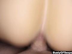 BustyGFS – Curvy Amber Ashley Gets It In POV