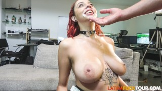 Submissive Latina Slut Dommed and Fed with Cum