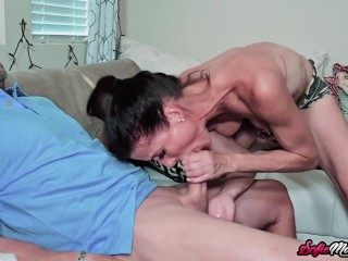 Adorable MILF Nanny Sofie Marie Sucks Massive Dick In POV