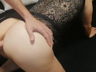 He fucks his wife in hot lingerie and...