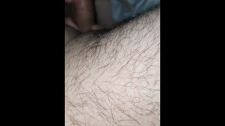 Step dad don't let step daughter breathe and fill her throat with Cum