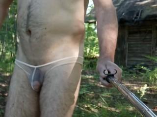 Episode 2 walks in see through panties in...