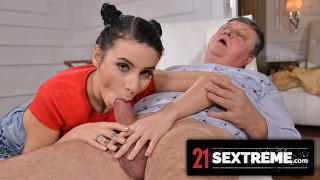21Sextreme Sexy Housekeeper Nelly Kent Wants Horny Old Man To Bust On Her Big Tits!