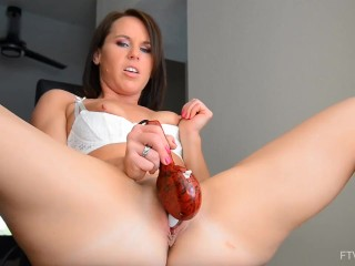 Hot MILF Riley Jacobs Fisting and Panty Stuffing