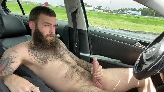 Daddy Gets Naked And Strokes Himself Off In Public