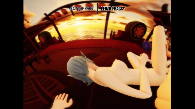 Genshin Impact - Eula Sideways [VR UNCENSORED HENTAI 4K] 11