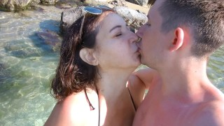 Blowjob at the sea, because we haven't been here for almost 21 months!