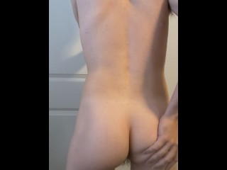 Boy wet ass after getting out of shower...