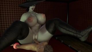 BBW Lady Dimitrescu is fucking her man slave