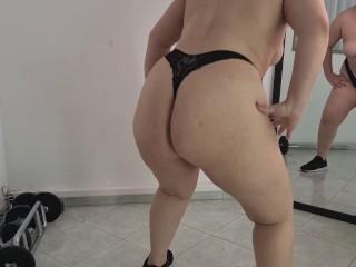 Topless squats...
