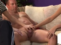 Clothed dominas jerk and humiliate couriers small dick Clothed dominas jerk and humiliate couriers small dick