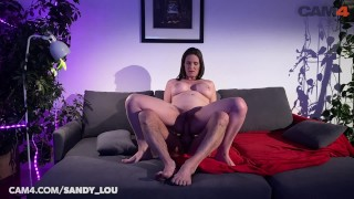 PAWG Camgirl MILF sandy_lou Rides Dildo DOUBLE ANAL   CAM4