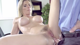 PUREMATURE Mature Manager Gives Up Anal To Interviewer
