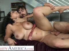 Naughty America - Big Tit Latina Gabriela Lopez fucks friend's boyfriend before flying home