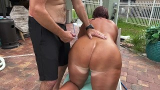 Sexy Joy Takes a Poolside Pounding from the Neighbor