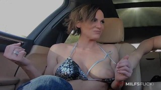 Hot Busty MILF Ainsley Adams Trailer Fucked And Cumming And Taking A Huge Facial