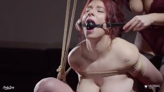 Gag for the little Brat: shibari sex with Zenda Sexy