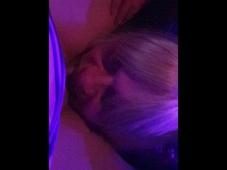 Tgirl charlotte licking out lisas pussy under the...