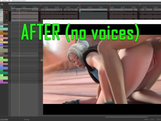 Before after sound design comparison view from daw...