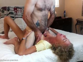 Making him cum nipple play big boobs suck...