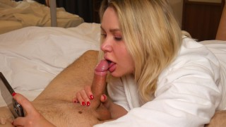 She Films Herself While Sucking Cock