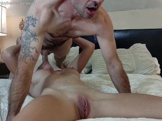 Sucking cunnilingus closeup facefuck intimate surprise anal...