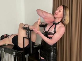 Feet torture by mistress noir full vid on...