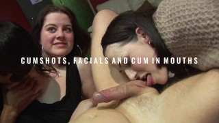 Cumshots facials and cum in mouth clips