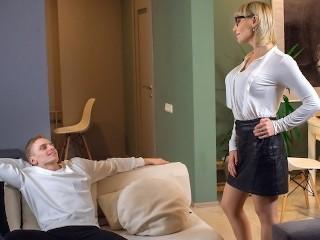 Tutor4k tricky guy seduces history teacher after discovering...