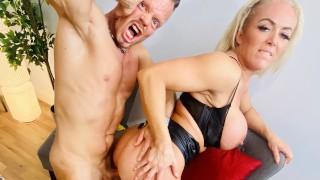 British Busty Blonde Boss Bitch Mature Milf Rebecca Jane Smyth Dates Muscular German! WolfWagnerCom