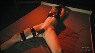 Bondage orgasm - Tied Nina's orgasm - Marcus - Hitachi - Tied orgasm - Kink - Pussy tease