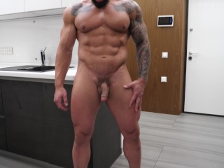 Muscle stud adrenaline is worshiped and getting edged...