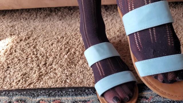 Dirty nylon foot worship 10