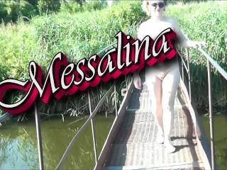 Messalina dressed in sun outside milf walks by...