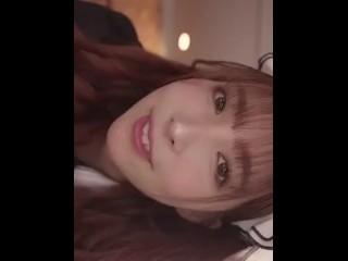 Japanese cute girl blow job
